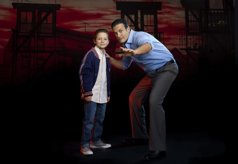 Young Calogero and Sonny - A BRONX TALE - photo by Joan Marcus