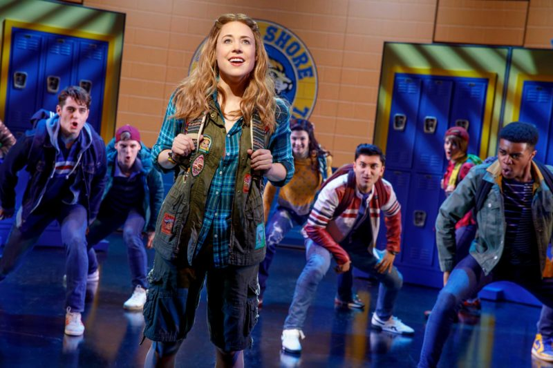 A still photograph of the opening number of Mean Girls.
