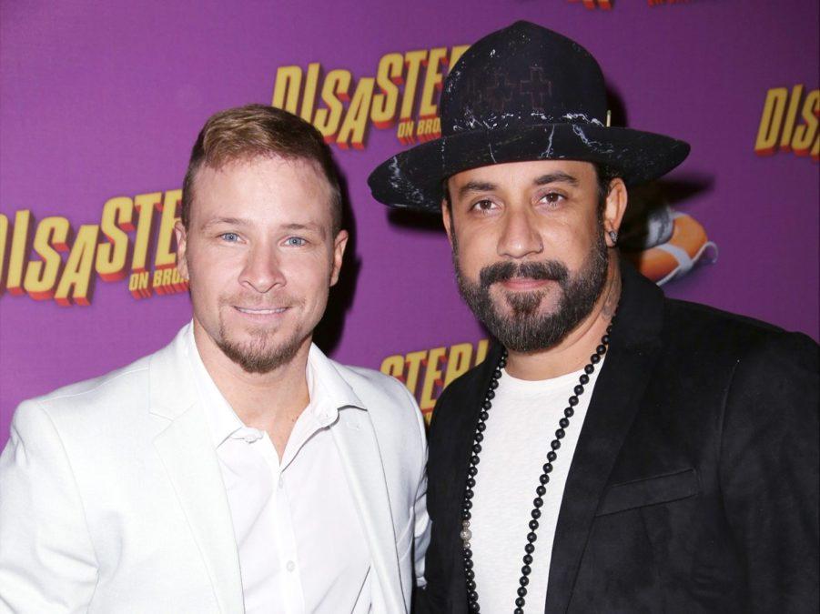 Brian Littrell - A.J. McLean- Backstreet Boys - Disaster - Getty - Walter McBride - 3/16