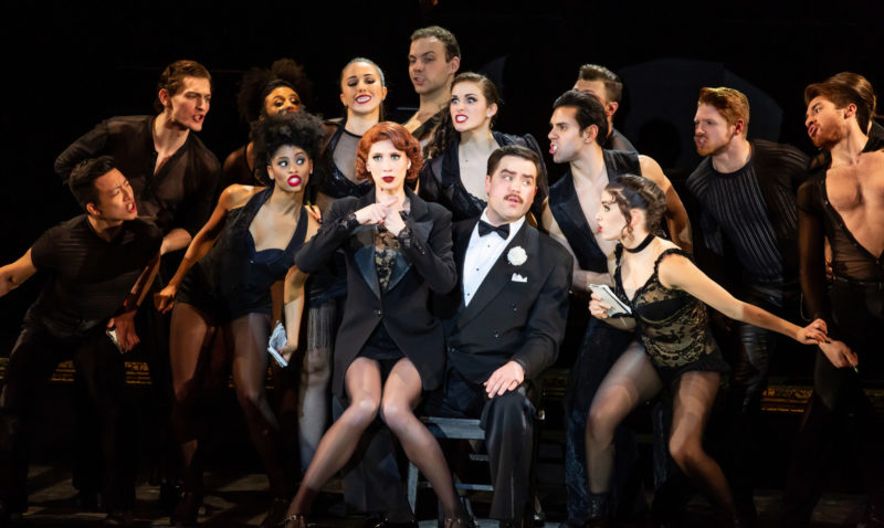 """Scene from CHICAGO Roxie Hart and Billy Flynn performing """"We Both Reached for the Gun"""""""