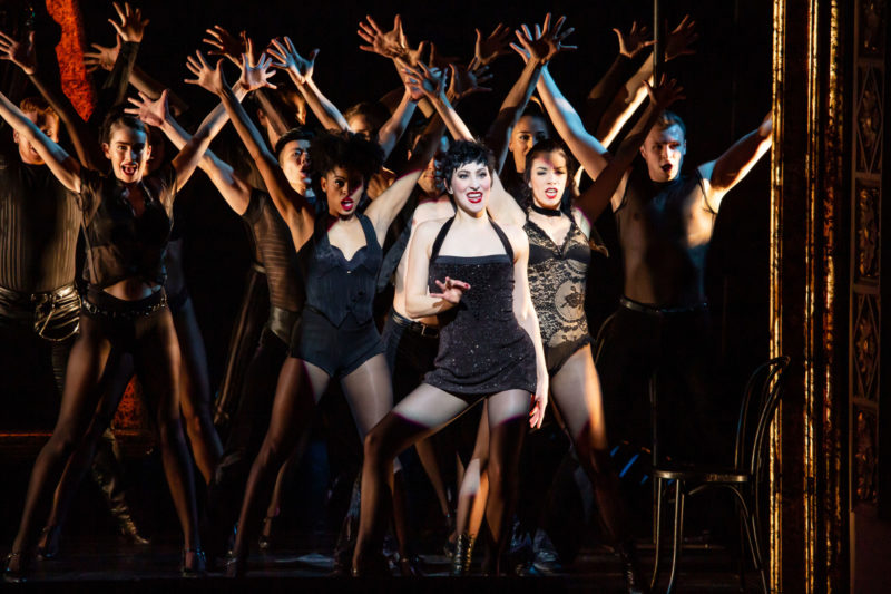 scene from CHICAGO Velma Kelly and Company dancing