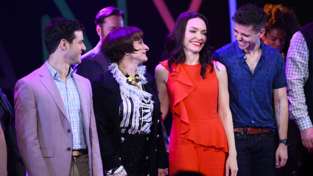 Company first curtain call - Etai Benson - Patti LuPone - Katrina Lenk - Matt Doyle - 03/2020 - Jenny Anderson